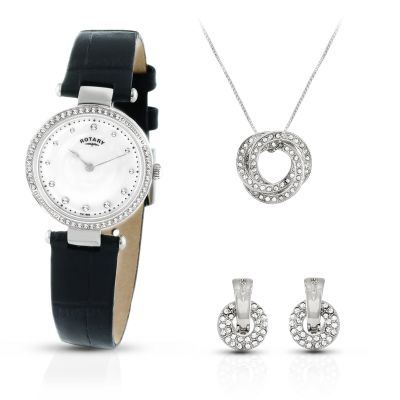 Montre Femme Rotary Exclusive Collier Gift Set LS00511/41/SET