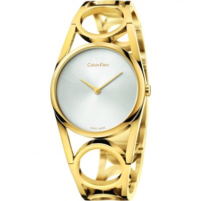 Ladies Calvin Klein Round Watch K5U2M546