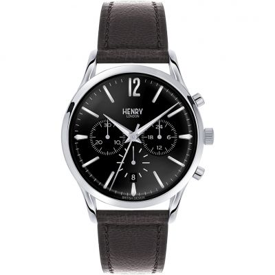 Henry London Heritage Edgware Herrenchronograph in Schwarz HL41-CS-0023