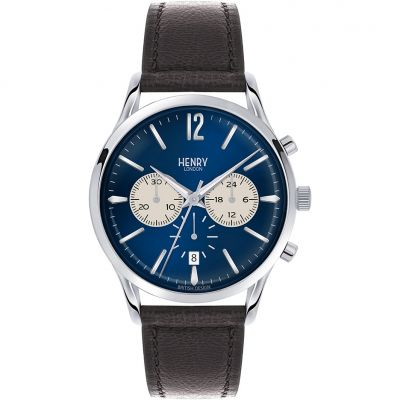 Henry London Heritage Knightsbridge Herrenchronograph in Braun HL41-CS-0039