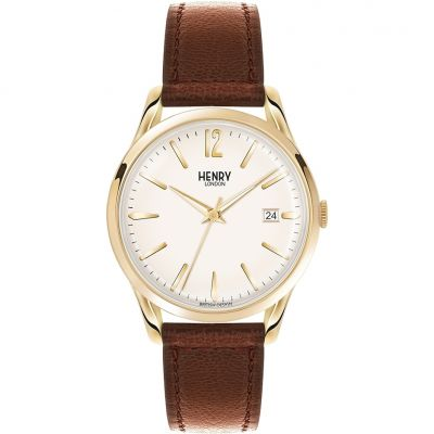 Henry London Heritage Westminster Unisexuhr in Braun HL39-S-0012