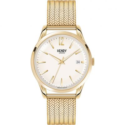 Henry London Heritage Westminster Unisexuhr in Gold HL39-M-0008