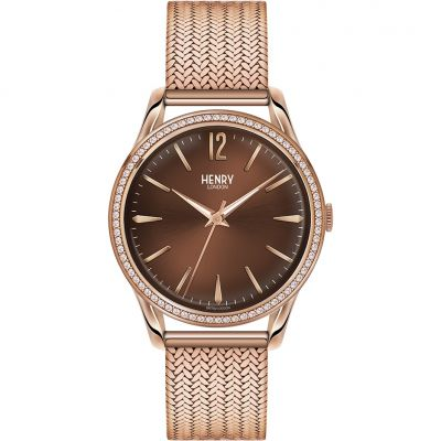 Henry London Heritage Harrow Unisexuhr in Rosa HL39-SM-0124