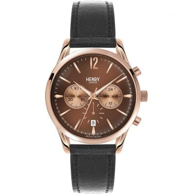 Henry London Heritage Harrow Unisexchronograaf Zwart HL39-CS-0054