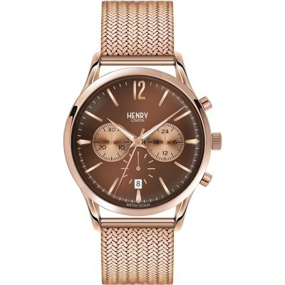 Henry London Heritage Harrow Herenchronograaf Rose HL41-CM-0056