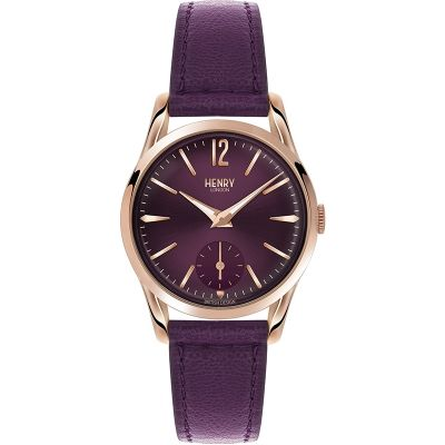 Henry London Heritage Hampstead Damenuhr in Lila HL30-US-0076
