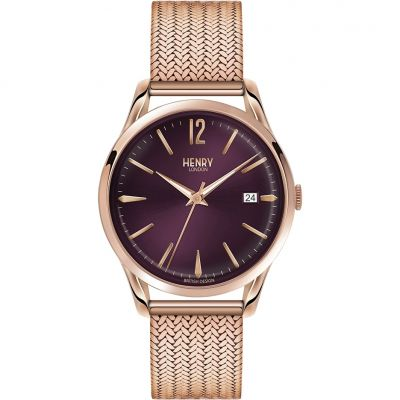 Henry London Heritage Hampstead Unisexuhr in Rosa HL39-M-0078