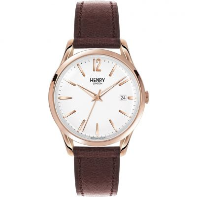 Henry London Heritage Richmond Unisex horloge Bruin HL39-S-0028