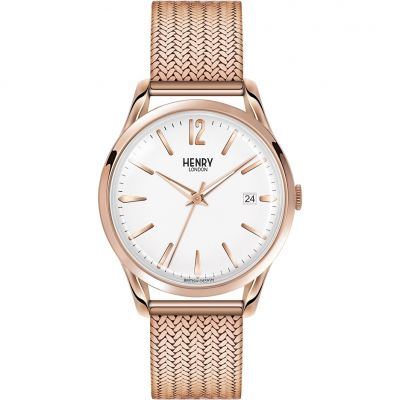 Henry London Heritage Richmond Unisexuhr in Rosa HL39-M-0026
