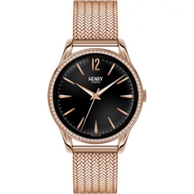 Henry London Heritage Richmond Unisex horloge Rose HL39-SM-0030