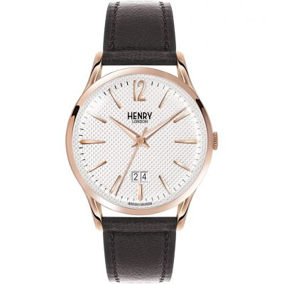 Henry London Heritage Richmond Herrenuhr in Braun HL41-JS-0038
