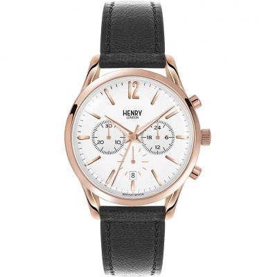 Henry London Heritage Richmond Unisexchronograaf Zwart HL39-CS-0036