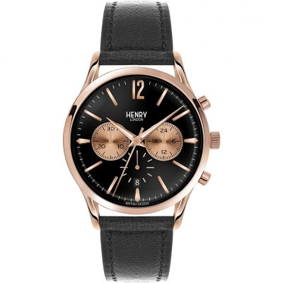 Henry London Heritage Richmond Herrenchronograph in Schwarz HL41-CS-0042