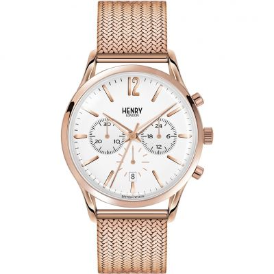 Henry London Heritage Richmond Herrenchronograph in Rosa HL41-CM-0040