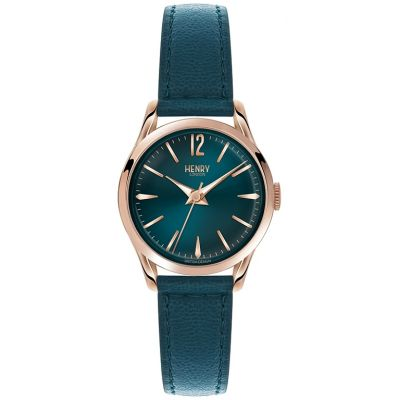Henry London Heritage Stratford Damenuhr in Blau HL25-S-0128
