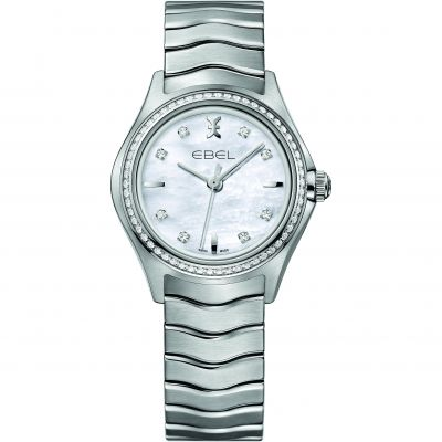 Ladies Ebel New Wave Diamond Watch 1216194