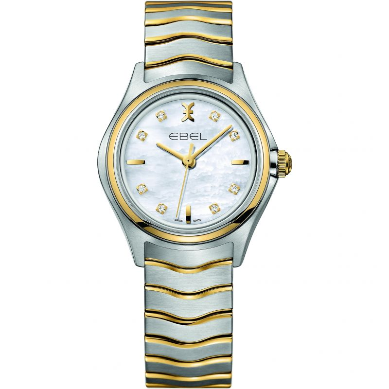 Ladies Ebel New Wave 18ct Gold Diamond Watch