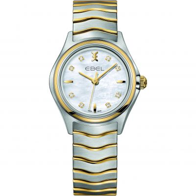 Ladies Ebel New Wave 18ct Gold Diamond Watch 1216197