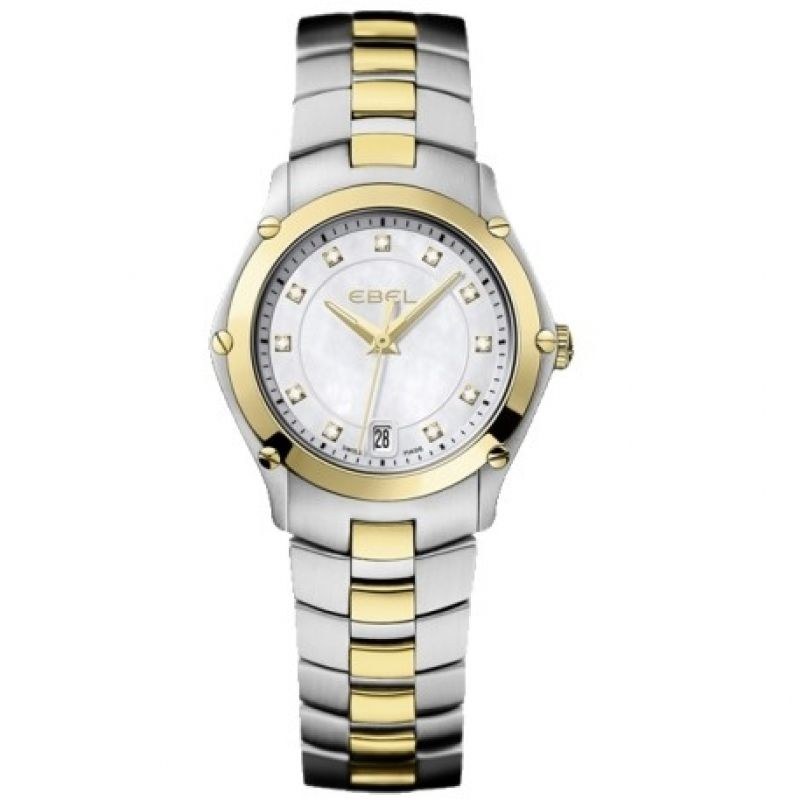 Ladies Ebel Sport 18ct Gold Diamond Watch
