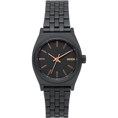 Nixon The Small Time Teller Unisex horloge Zwart A399-957