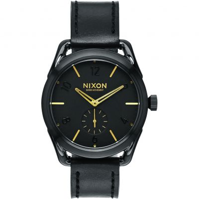 Nixon The C39 Leather Unisex horloge Zwart A459-010