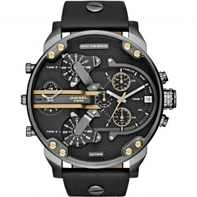 Diesel The Daddies Herrenchronograph in Schwarz DZ7348