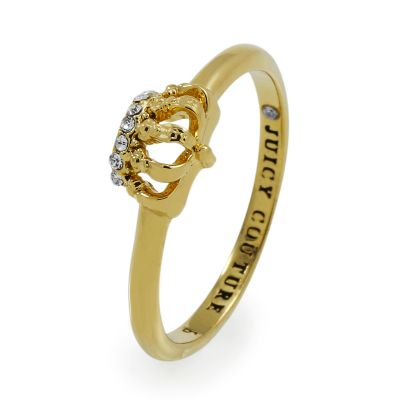 Ladies Juicy Couture PVD Gold plated Size L.5 Ring WJW582-710-6