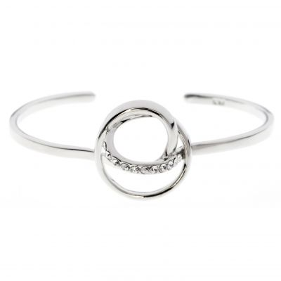 Ladies Karen Millen PVD Silver Plated Bangle KMJ876-01-02