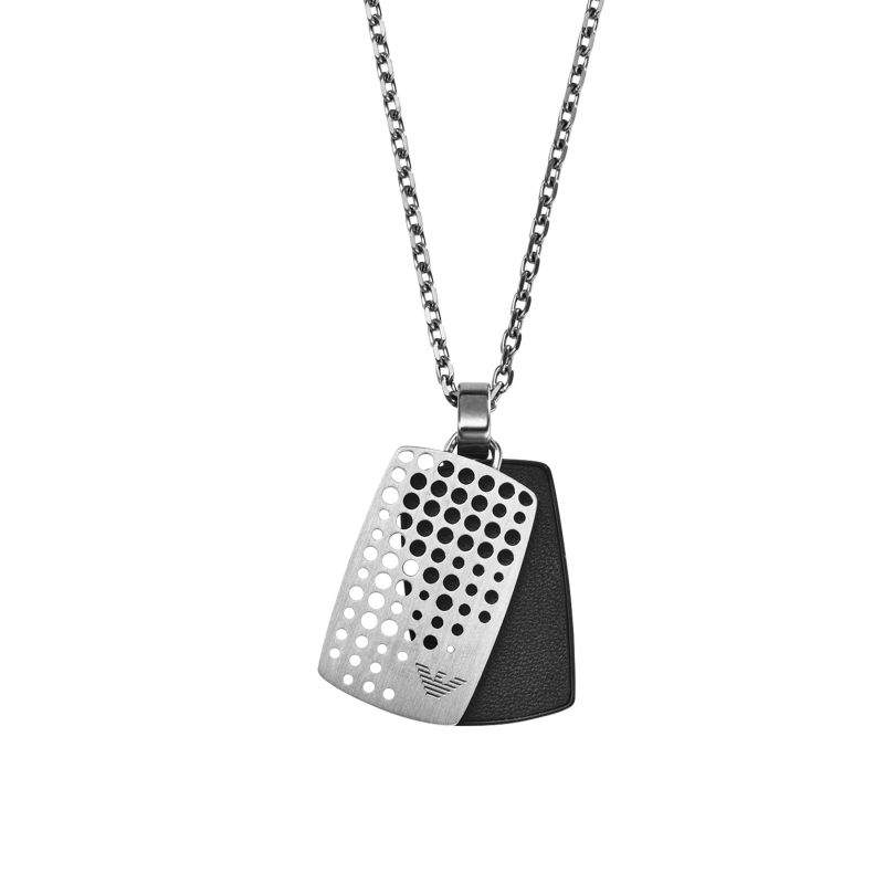 Mens Emporio Armani Stainless Steel Dog Tag Necklace EGS2010040510