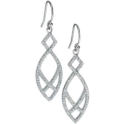 Ladies Fiorelli Sterling Silver Earrings E5004C