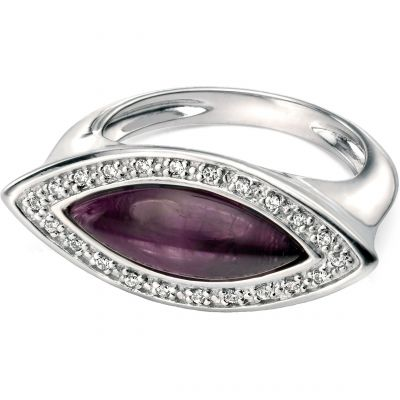 Damen Fiorelli & Amethyst Ring Sterling-Silber R3356ML