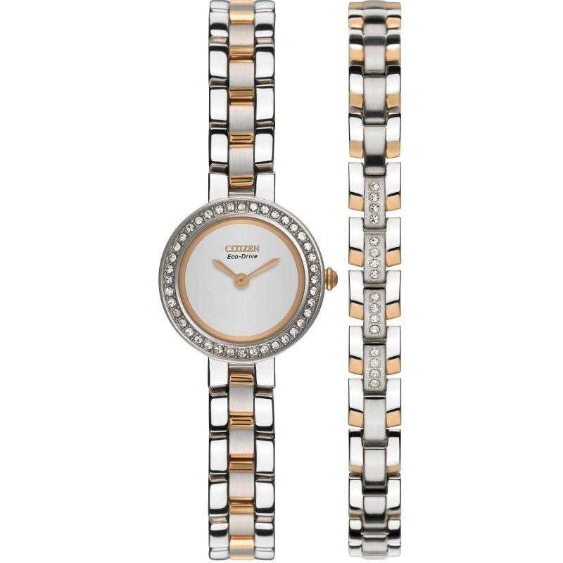 Ladies Citizen Silhouette Crystal Bracelet Gift Set Watch