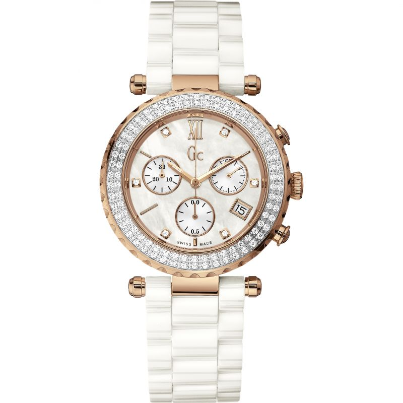 Ladies Gc Diver Chic Chronograph Diamond Watch
