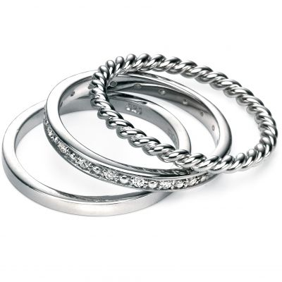 Damen Fiorelli Ring Sterling-Silber R3357CN