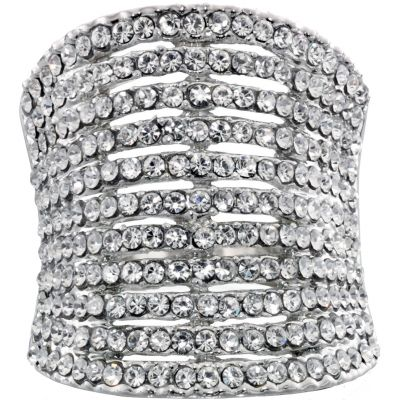 Ladies Fiorelli PVD Silver Plated Ring R3287S