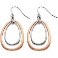Ladies Fiorelli Two-Tone Steel and Rose Plate Earrings E4940