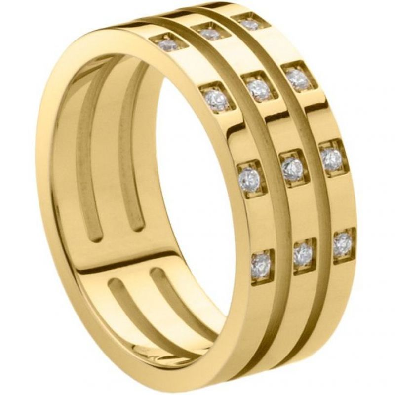 Ladies STORM PVD Gold plated Size M Zella Ring ZELLA-RING-GOLD-M