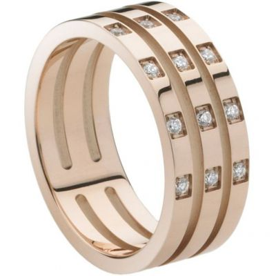 Ladies STORM PVD rose plating Size M Zella Ring ZELLA-RING-ROSE-GOLD-M