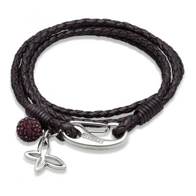 Unique Dames Leather Bracelet Roestvrijstaal B213BE/19CM