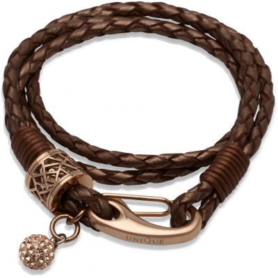 Biżuteria damska Unique & Co Leather Bracelet B218CO/19CM