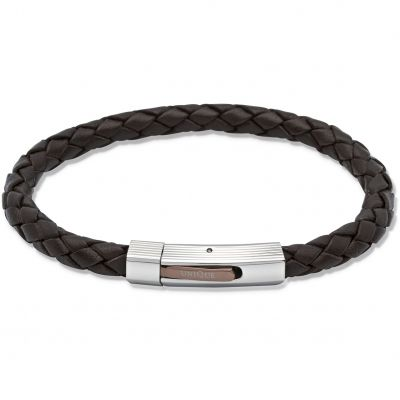 Biżuteria męska Unique & Co Leather Bracelet B176DB/21CM