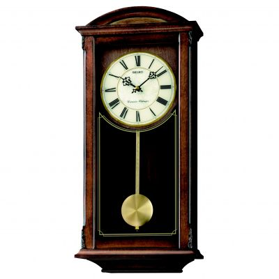 Seiko Clocks Pendulum Long Case Chiming Wall Clock QXH030B