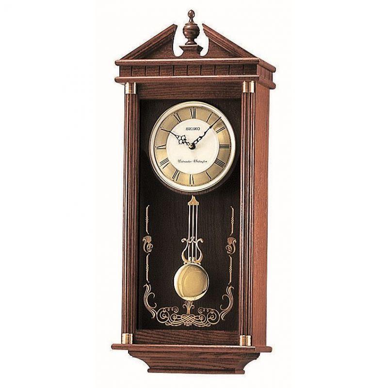 Clock Seiko Clocks Pendulum Long Case Chiming Wall Clock
