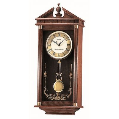 Seiko Clocks Pendulum Long Case Chiming Wall Clock QXH107B