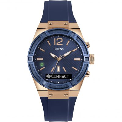 Guess Connect Bluetooth Hybrid Smartwatch Unisexklocka Blå C0002M1