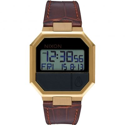 Nixon The Re-Run Leather Unisex horloge Bruin A944-849