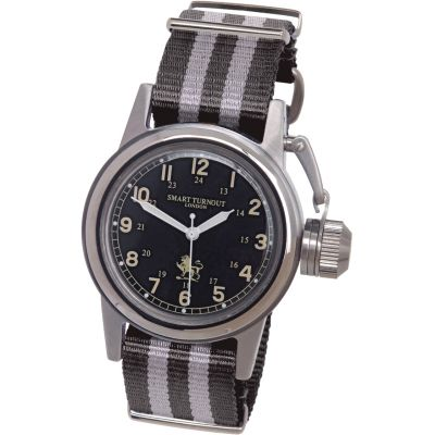 Smart Turnout Charterfield Herrenuhr in Grau STJ/52/003/BK/W-NATO