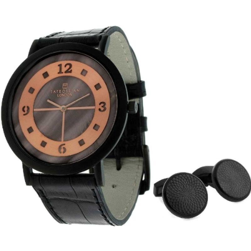 Mens Tateossian Cufflink Gift Set Watch