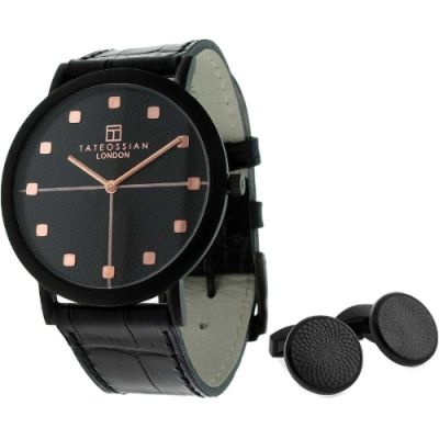 Tateossian Cufflink Gift Set Herrenuhr in Schwarz SM0193