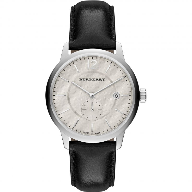 Mens Burberry Classic Round Watch